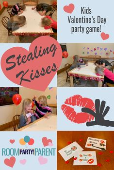 A thief is on the loose at your and it's up to the other students to catch them! Kids will have such fun taking turns stealing kisses and making guesses. They'll want to play again and again. A great class party game for ALL ages! Valentines Games, Valentines Day Party, Valentines For Kids, Party In A Box, School Parties, Party Games, Kisses, Party Planning, More Fun