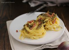Le tagliatelle carciofi e speck sono un primo piatto saporito e sfizioso, perfetto anche per un pranzo impegnativo come quello della domenica!