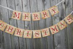 Christmas Banner - Merry Christmas - Vintage Inspired. $24.00, via Etsy.