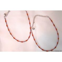 2 Anklets Amber beads on a Black flexi-thread - Anklets by Store Utsav Fashion