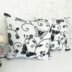 Butterfly Flower Cushion Cover