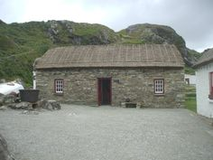One of a series of thatched cottages in Glencolmcille Folk Village. Donegal.