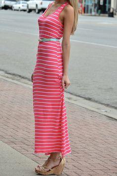 $12 Stripe Tank Maxi Dress (3/15/2014)
