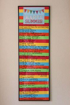 "Summer ""to do"" list"