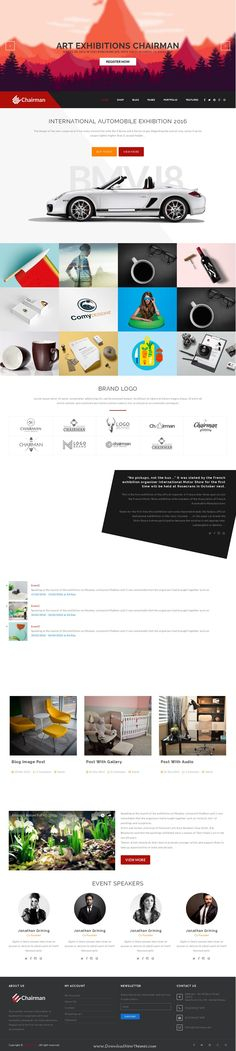 Chairman is modern and elegant Responsive Multipurpose WordPress Theme. It comes with 16 plus homepage layouts and amazing features. #seminar #webinar #startup #webdesign