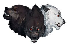 SCARLET Commission: Trinity Brothers by impalae on DeviantArt Anime Wolf, Pet Anime, Anime Animals, Animal Sketches, Animal Drawings, Cool Drawings, Drawing Faces, Fantasy Wolf, Fantasy Art