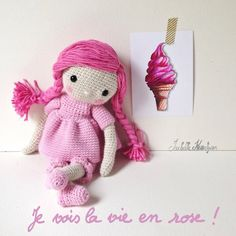 rose amigurumi doll
