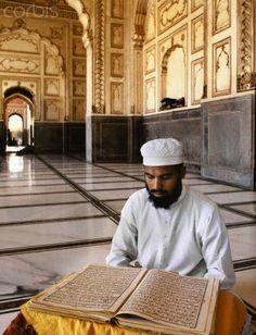 Reading the Quran, Lahore, Pakistan