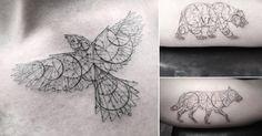 Elegant Fine Line Geometric Tattoos by Dr. Woo