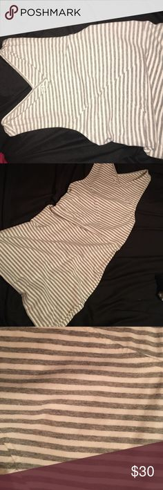 Striped dress! Light gray n white striped dress by AEO. NWOT American Eagle Outfitters Dresses Midi