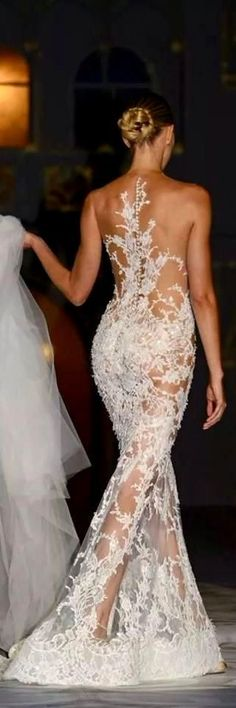 Lovely Lace. Would never wear this as my wedding dress, but I love it.
