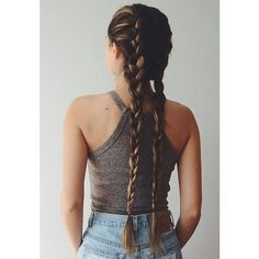 16 Peinados para hacerte si tienes cabello muy largo ❤ liked on Polyvore featuring hair and hairstyles