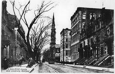 https://flic.kr/p/5mGwrt | St. Denis Street showing Laval University, Montreal, QC, about 1910 | McCord Museum
