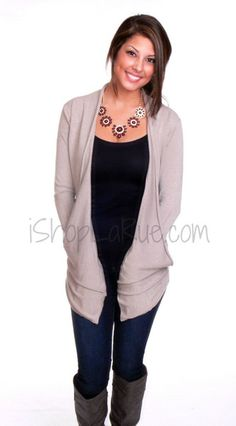 HEAVENLY CARDIGAN IN TAUPE