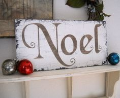 Homemade DIY Christmas Signs & Decor Ideas - Noel - Click Pic for 18 DIY Christmas Crafts for Family