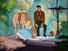 Cinderella with her father