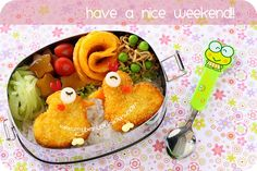 chicken nugget bento Japanese Party, Chicken Nuggets, Weekend Fun, Food Humor, School Lunch, Lunches And Dinners, Lunch Box, Snacks, Recipes