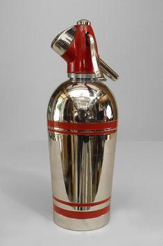 Art Deco English accessories bottle/flask chrome