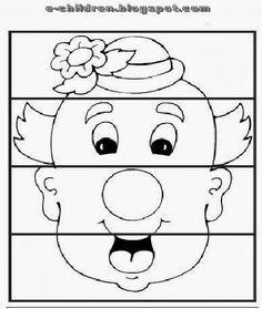 clown puzzle worksheet Preschool Circus, Circus Activities, April Preschool, Preschool Printables, Preschool Crafts, Crafts For Kids, Clown Crafts, Carnival Crafts, Puzzle Photo