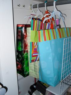 Good Gift Bag Storage Idea
