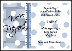 personalize your wordings for pregnancy announcement cards at CardsShoppe