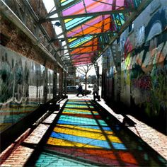 """The Urban Design Alliance sponsored """"Imagine Alleys,"""" an interactive Second Saturday event in two midtown alleys."""