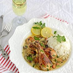 Julia Child's Chicken Fricassee with 253 calorie/serving. A Classic French dinner for the weekend.