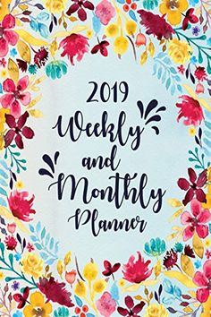 Read Megumi Lab Paper's book 2019 Planner Weekly And Monthly: Sky Blue Blossom Edition Calendar Organization, Paper Book, Weekly Planner, Inner Peace, Getting Organized, Blessing, Productivity, Lab, December