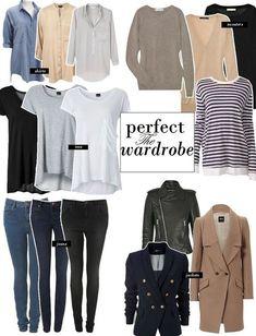 Perfect minimalist wardrobe #wardrobebasicscasual