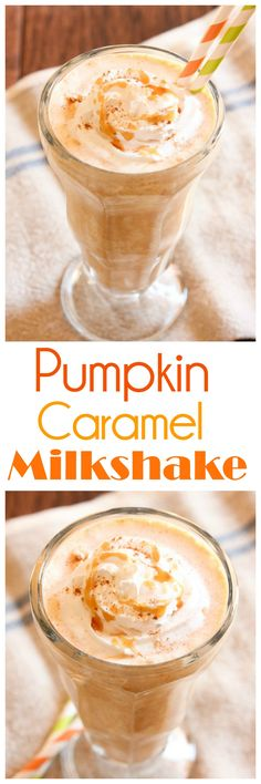 It's that time of year! Time for all the pumpkin recipes like this Pumpkin Caramel Milkshake. And I'm not even sorry. You'll love the flavors in the delicious shake!
