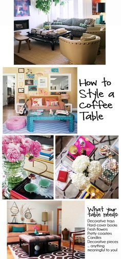 sofa table styling - Google Search