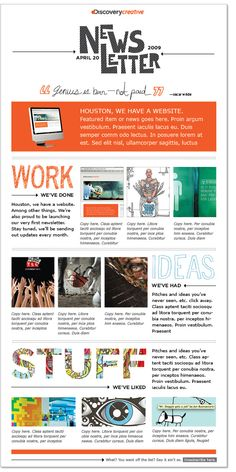 Internal News Letter Kleobeachfixco - Internal email newsletter templates