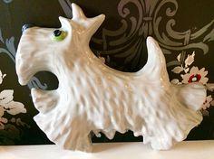 Vintage ceramic dog wall hanging /vintage dog home decor /