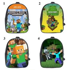 Large Backpack Bag Minecraft Creeper Preschool By Bagbagus On Etsy 35 00 School