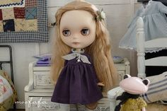 Mooji dress  Dark Purple  for Blythe by