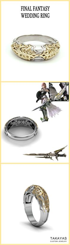 Final Fantasy Themed Engagement Ring
