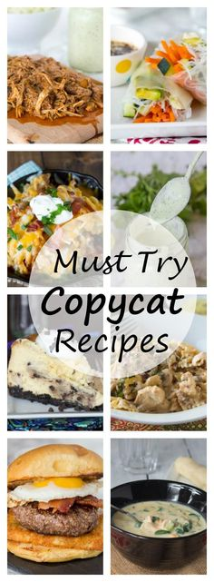 15 Copycat Recipe to Try - want to make some of your restaurant favorites at home. Here are 14 of my favorite homemade versions of some famous restaurant dishes.
