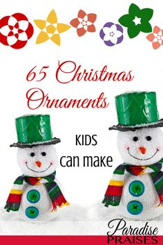 A great list of Christmas ornaments kids can make. Something for everyone and every skill level.