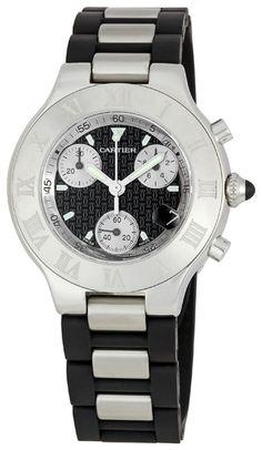 Cartier Must 21 Chronoscaph . A Cartier watch makes a statement !