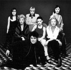 """Almodóvar y el elenco de """"Todo sobre mi madre"""" (1999)"""