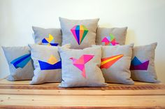 origami pillow covers