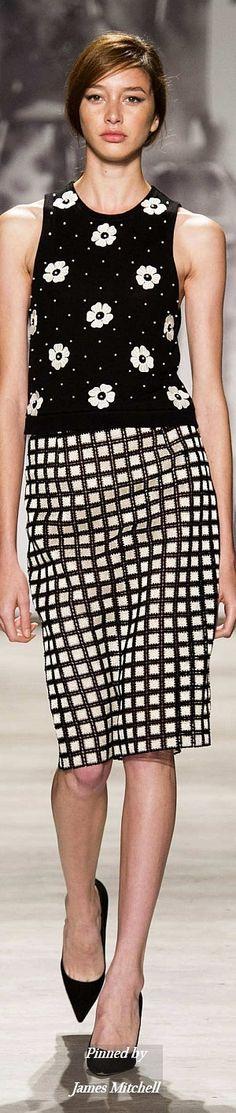 Trendy skirt - Lela Rose Collection Spring 2015 Ready to wear Lela Rose, Black White Fashion, Pretty Outfits, Fashion Outfits, Fashion Trends, Mantel, Ready To Wear, Spring 2015, Street Style