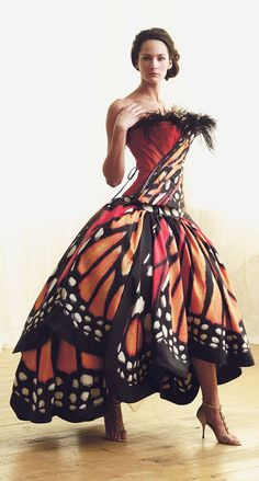 The Monarch ball gown, by Luly Yang. Meet the designer behind the butterfly dress.