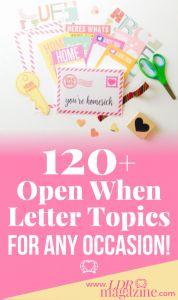 over 120 open when letter