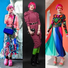 1 2 or Which look wins your heart? Artsy girl glam punk or festive rainbow? How To Become Rich, Pink Hair, Joseph, Festive, Artsy, Gucci, Ootd, Punk, Rainbow