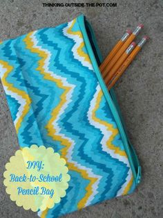 DIY Back-to-School Pencil Bag - penniesintopearls.com - Follow these easy steps to make your own DIY pencil bag. Get the kids back to school in style and on budget!