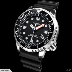 Proof that a dive watch can be fun & functional with the Citizen® ISO-compliant Promaster Professional Diver. With Eco-Drive technology, it is powered by light and never needs a battery Citizen Dive Watch, Rolex Watches, Watches For Men, Crown And Buckle, Affordable Watches, Citizen Eco, Watch Companies, Omega Seamaster, Fashion Watches