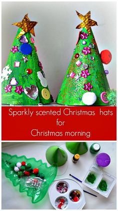 Christmas Tree Craft for kids - for Christmas morning.