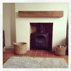 Solid English Oak Beams Floating Shelf Mantle Piece Fire Place Surround in Home, Furniture & DIY, Furniture, Bookcases, Shelving & Storage Mantle, Wooden Mantle, Cottage Style Interiors, Mantle Piece, Inglenook Fireplace, Floating Shelf Mantle, Fireplace, Floating Mantel, Fireplace Design