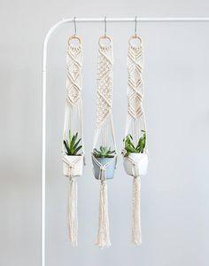 Macrame Plant Hanger Succulent Hangers Mini Macrame Hanging